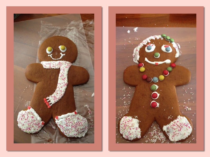 A proud PANK - last Christmas, my nieces and nephew made these giant gingerbread people.