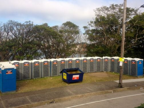 Portaloos and bins, the foundation of any good public party.