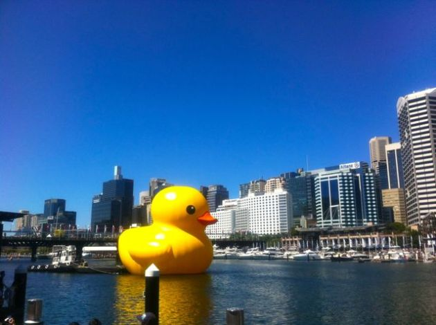 Pic taken by my friend Jane as Rubber Duck arrived in style through the open bridge at Darling Harbour on Saturday.