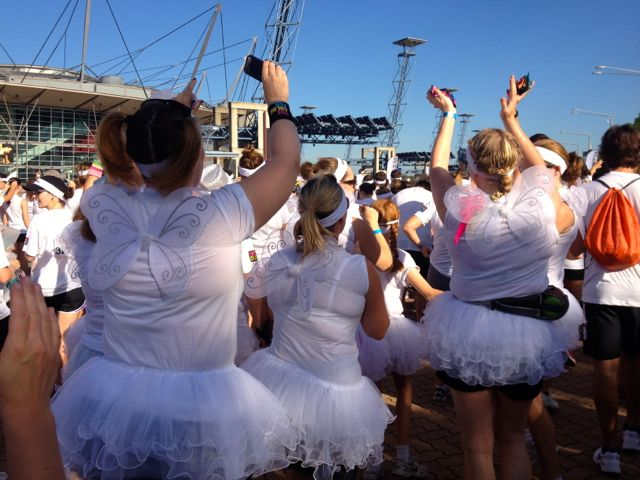 Lots of wings and tutus around.
