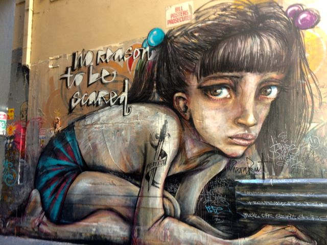 Like the ancient ruins in Rome, you'll just be walking along and oh, HELLO AMAZING STREET ART.