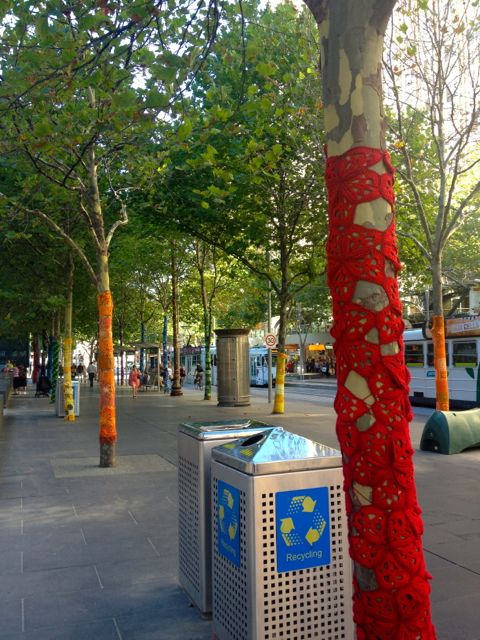 Sure brightens up this part of the CBD, with lots of trees wrapped down the street.