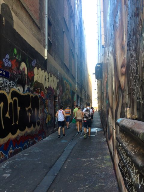 Down the lane way - a gallery of street art.