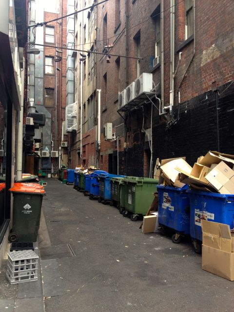 And sometimes, a lane way is just a normal trashy lane way. Even in Melbourne.
