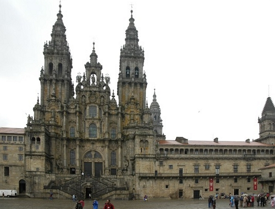 The spectacular Cathedral of Santiago de Compostela. Also known as THE FINISH LINE.