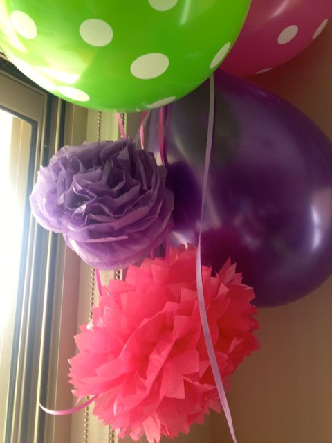 Balloons and flowers - the cornerstone of a great party...