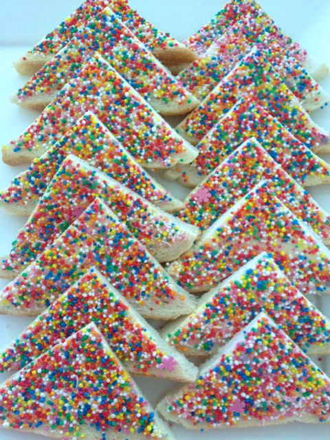 Fairy Bread - one of my contributions to the festivities. Not to brag, but it is one of my culinary specialties.