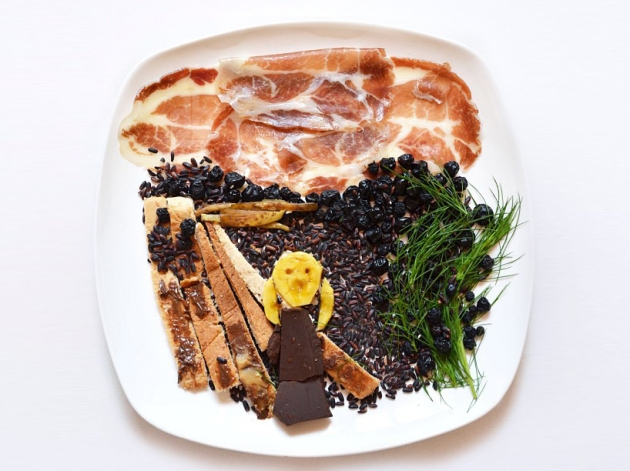 Hong Yi's foodie version of 'The Scream', via designboom.com
