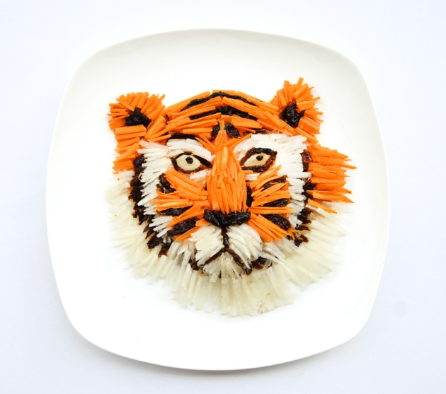 Grrrr - eat your radish, carrots and prunes, says Hong Yi's tiger, via designboom.com