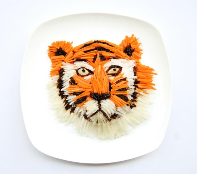 Grrrr - eat your radish, carrots and prunes, says Hong Yi's tiger, via designboom.com