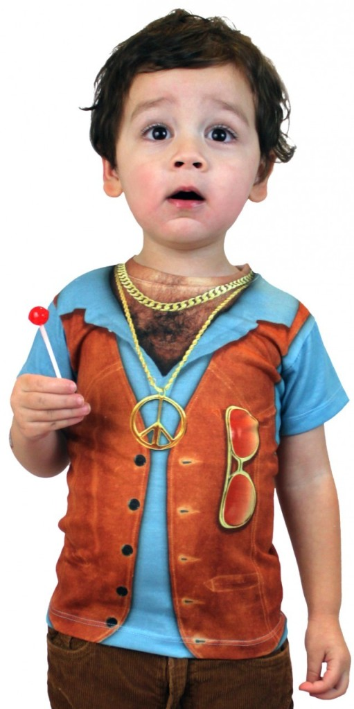 Look out, little ladies. It's the Faux Real 70's vest for toddlers.
