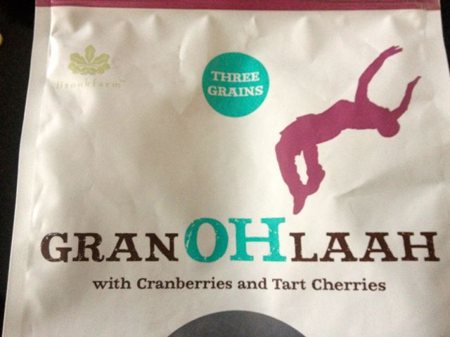 Not just granola, it's granOHLAAH. And, yes, I have started backflipping like that on the way to the bus stop most mornings.