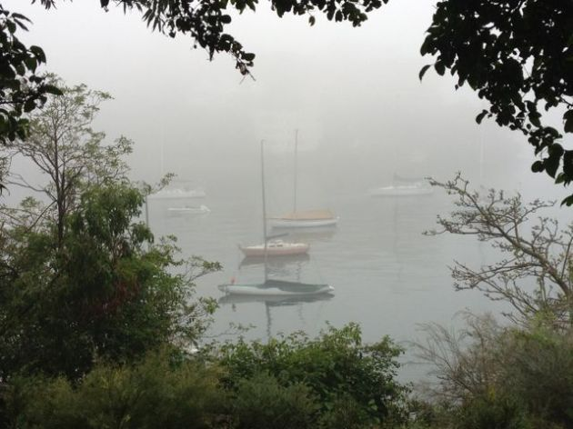 Ghostly boats in Mosman Bay...