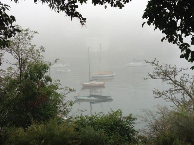 Ghostly boats in Mosman Bay...