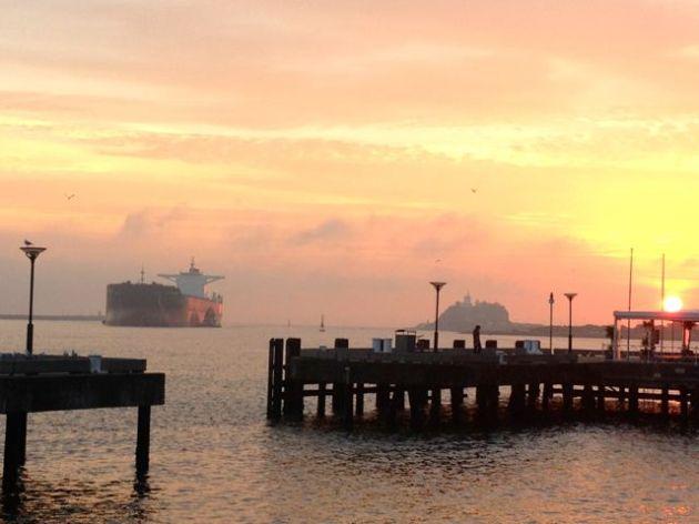Nice view, giant ship.