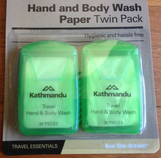 Hand and Body Wash Paper. Uh huh.