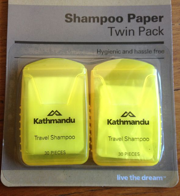 Shampoo in paper form? Yes, please!