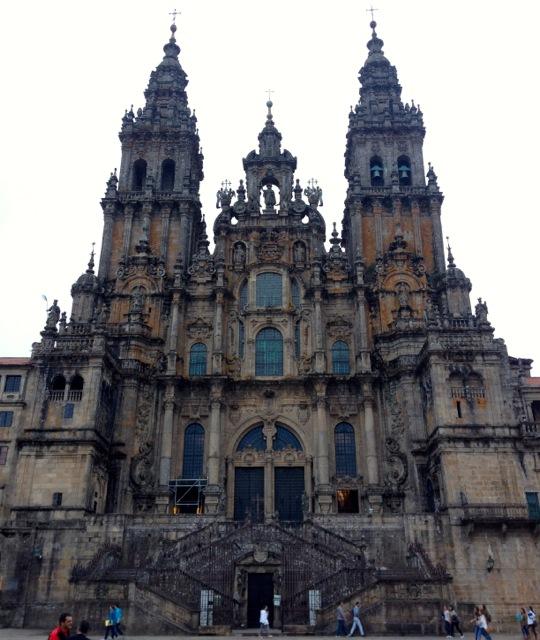 A pretty spectacular finish line in Santiago de Compostela.