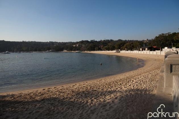 Mosman parkrun, Balmoral Beach. [image from Mosman parkrun Facebook page]