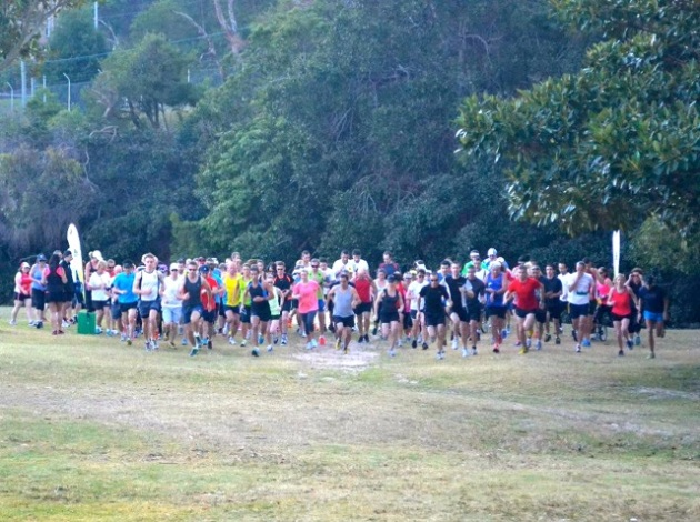 I was in there somewhere! [image from Mosman parkrun Facebook page]
