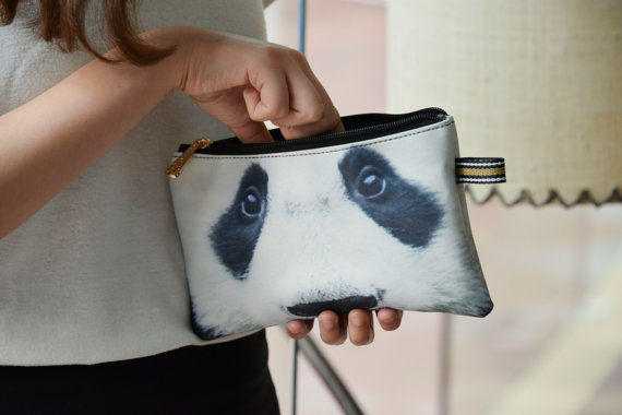 I feel like this Panda Purse would help to save money. The guilt trip from those sad eyes will keep the zipper closed tight. [image from BENWINEWIN]