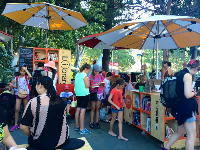 The City of Sydney set up a very cool library - giving away books. Lots of people sitting around reading too. Such a great idea!