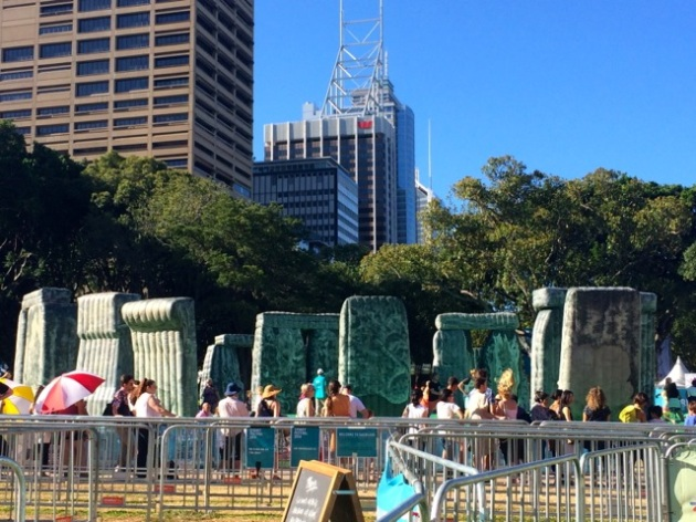 Not a great pic of the inflatable Stonehenge, but you get the idea...