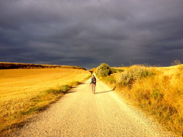 Steph on the Camino. I am available to photograph weddings, parties, etc on my iPhone.