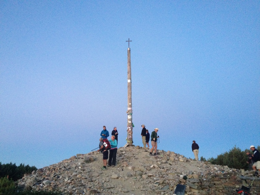 Cruz de Ferro on the Camino, at sunrise. This should be on more bucket lists, I reckon.